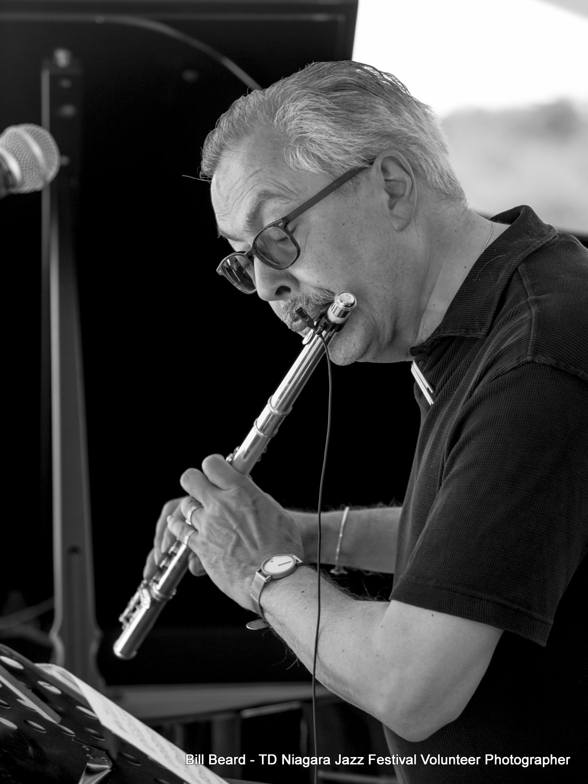 JAZZ on the RISE - Canada 150 Celebration - Megalomaniac Winery - Bill McBirnie (Flute) Sunday, July 30th, 2017. Photo: Bill Beard