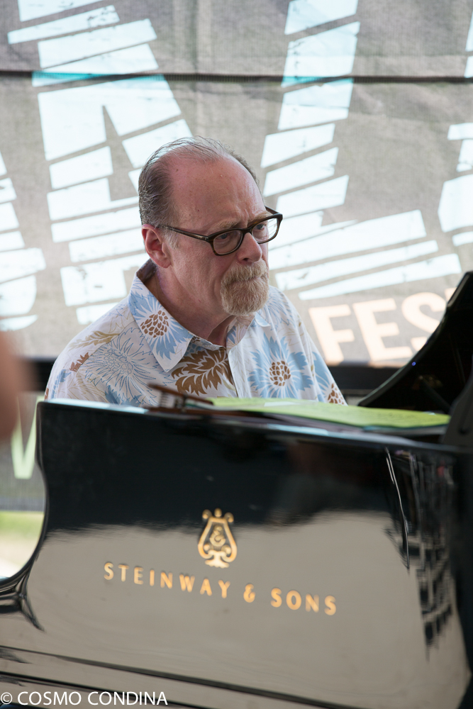 JAZZ on the RISE - Canada 150 Celebration - Megalomaniac Winery - Bernie Senesky (Piano) Sunday, July 30th, 2017. Photo: Cosmo Condina