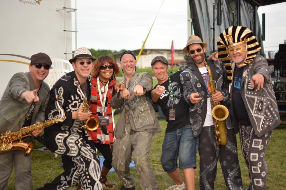 JAZZ in the VILLAGE - July 25, 2015 The Shuffle Demons and the Shea D Duo (Festival co-creators: Peter Shea & Juliet Dunn). Photo: Dan Brown