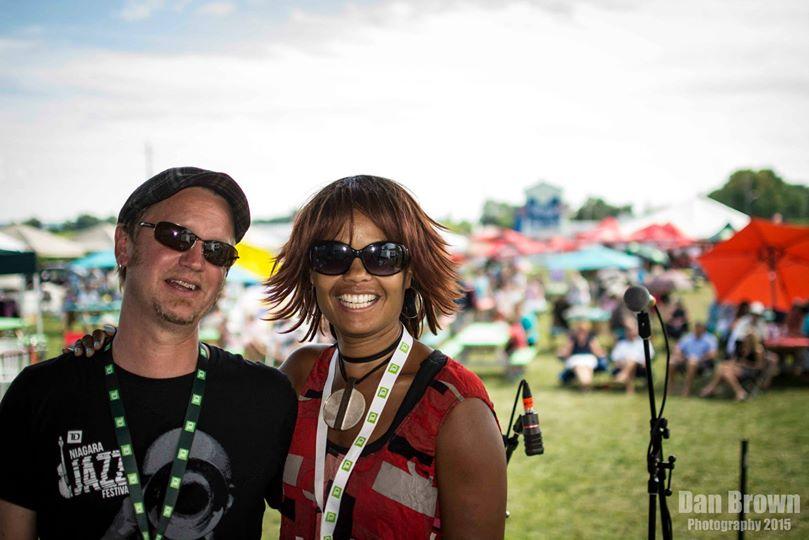 JAZZ in the VILLAGE - July 25, 2015 The Shea D Duo (Festival co-creators: Peter Shea & Juliet Dunn). Photo: Dan Brown