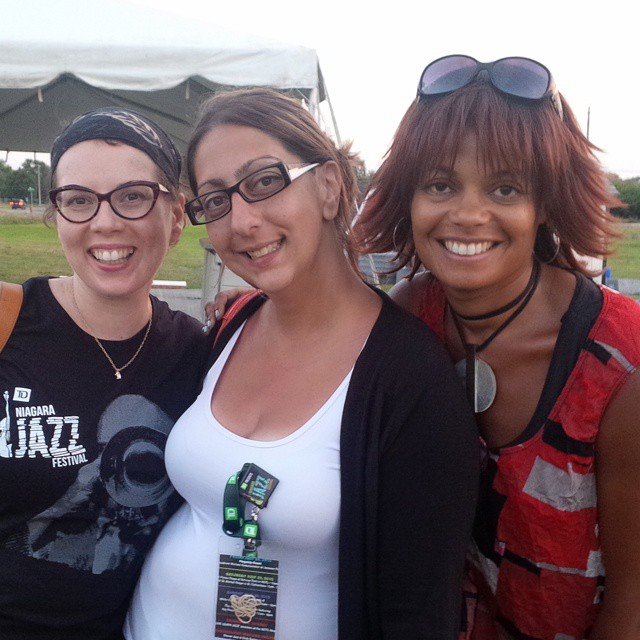 JAZZ in the VILLAGE - July 25, 2015 TD NJF Team: Mandi Gould (Event team lead / Maria Mavridis (Event lead & Sponsorship) and Juliet Dunn (Executive Director/Artistic Producer/Co-creator. Photo: Dan Brown