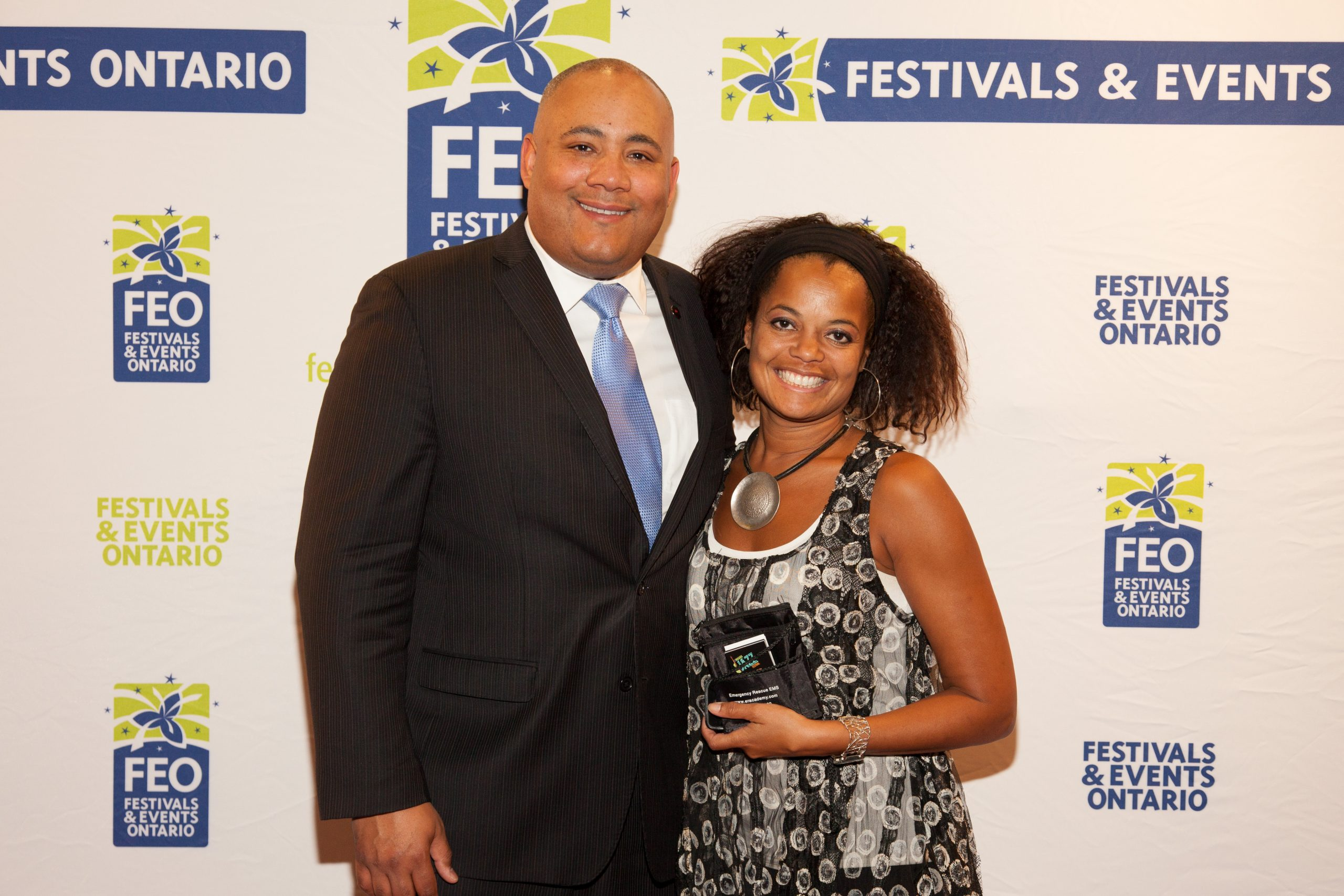 Festivals and Events Conference - February 2015: Juliet Dunn (ED) with Minister Michael Coteau (Minister of Culture, Tourism and Sport