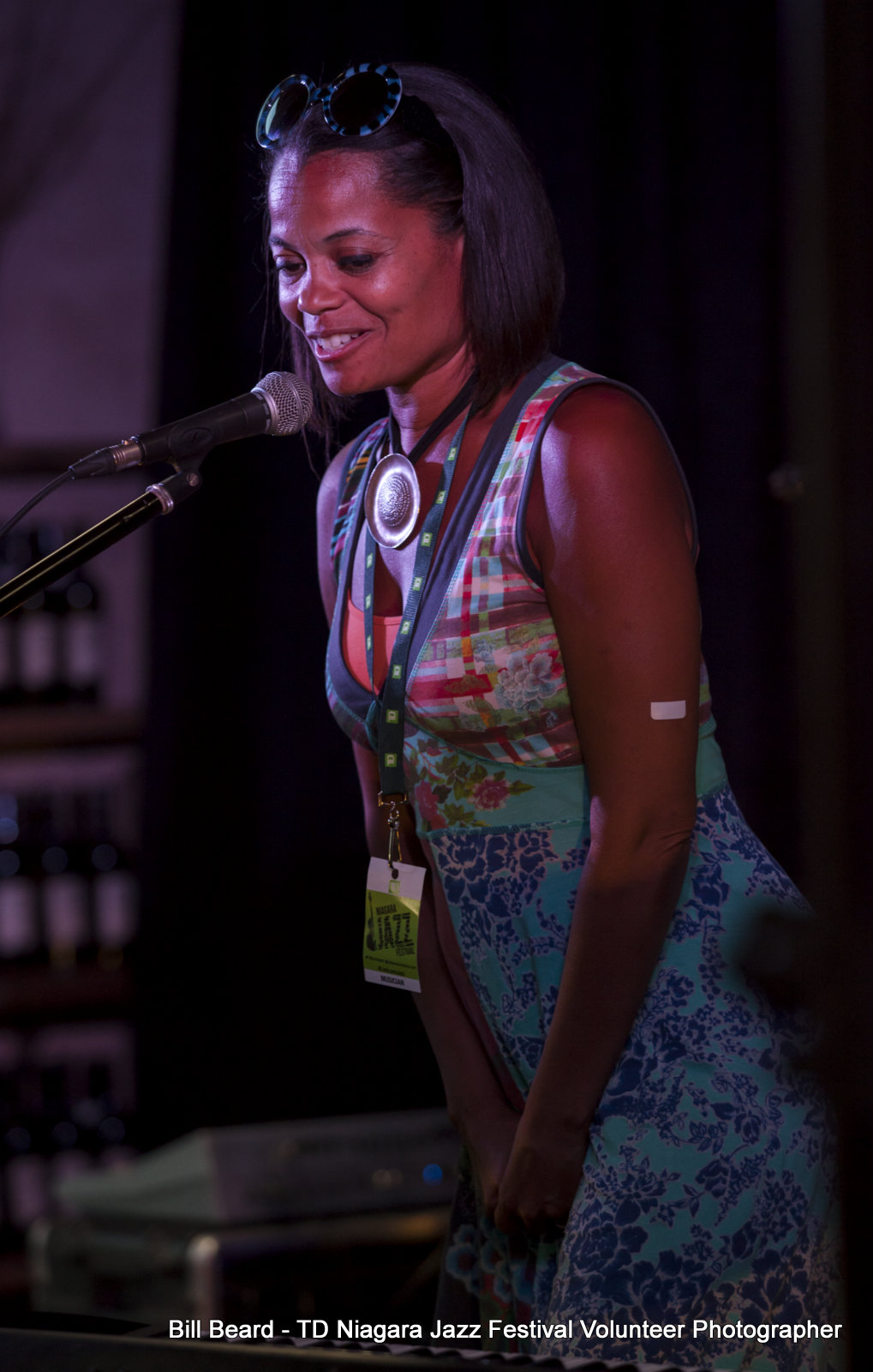 SOUL JAZZ in the VINEYARD - The Hare Wine Co. - Juliet Dunn (Executive Director with opening remarks) Saturday, July 29th, 2017. Photo: Bill Beard