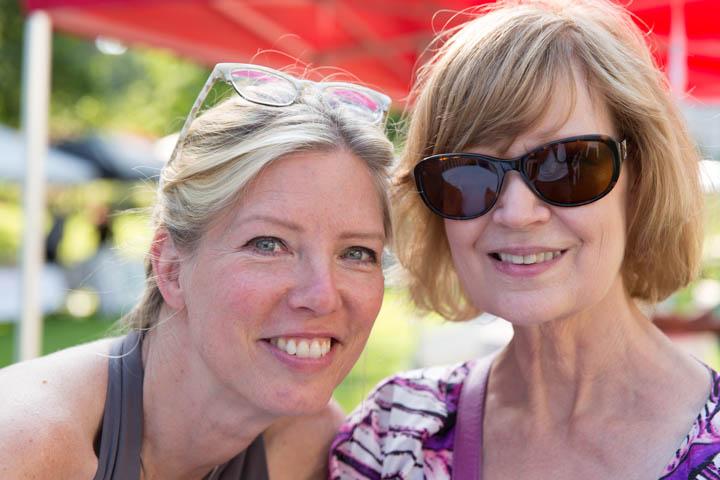 Festival friends Kim Van Stygren and Alexandra Mills -JAZZ in the PARK - Saturday, July 30, 2016. Photo: Cosmo Condina