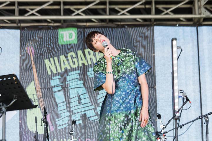 JAZZ in the VILLAGE in Niagara-on-the-Lake, ON - July 25, 2015 Gigi (Genvieve Marentette): Vocals. Photo: Dan Brown