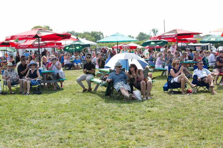 The crowd enjoying JAZZ in the VILLAGE in Niagara-on-the-Lake, ON - July 25, 2015. Photo: Snapd