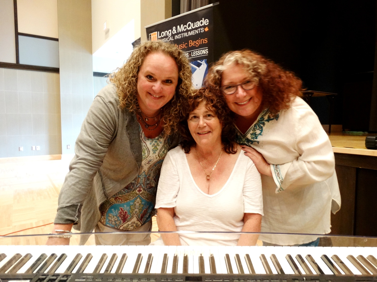 Vocal jazz workshop with Broadsway - July 25, 2015 Niagara-on-the-Lake Public Library: Heather Bambrick, Diane Leah & Julie Michels. Photo: Snapd