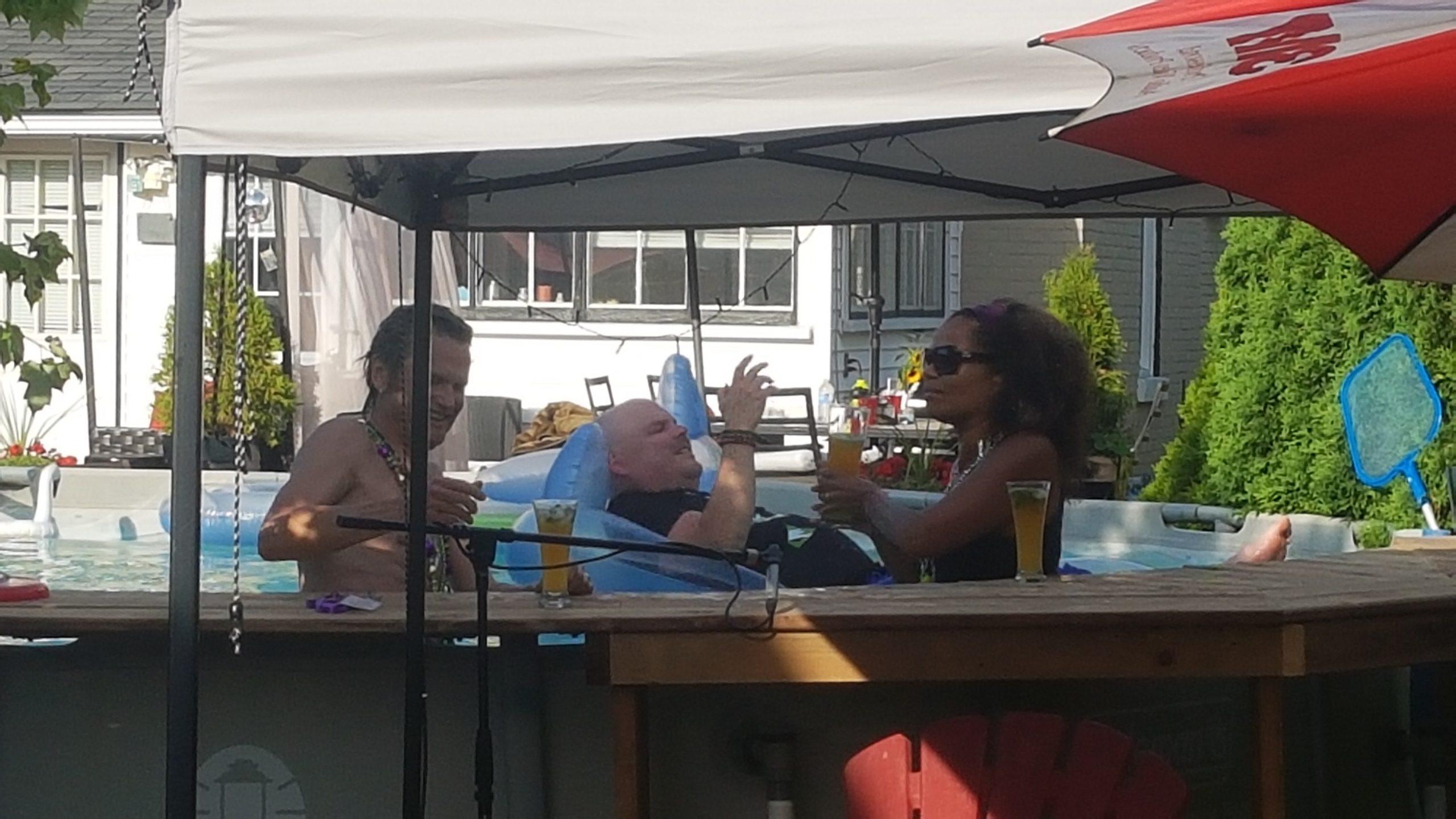 Juliet Dunn, Peter Shea, and Ronnie Littlejohn - Niagara's ONLINE Summer Mardi Gras - Saturday, July 18, 2020. Photo: Nicholas Paolone