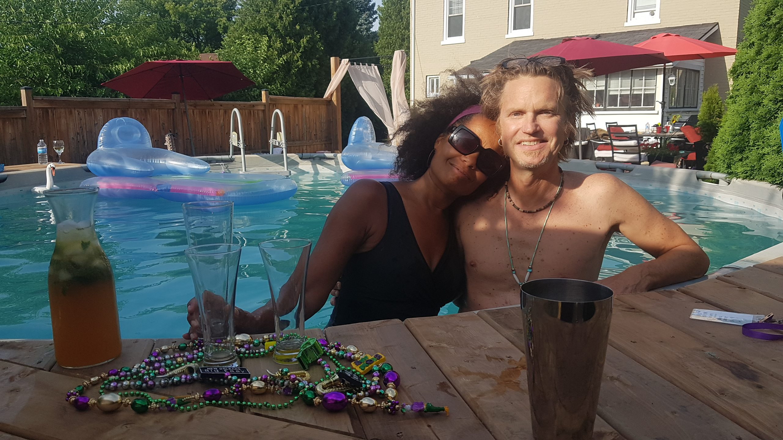 Juliet Dunn and Peter Shea - Niagara's ONLINE Summer Mardi Gras - Saturday, July 18, 2020. Photo: Nicholas Paolone