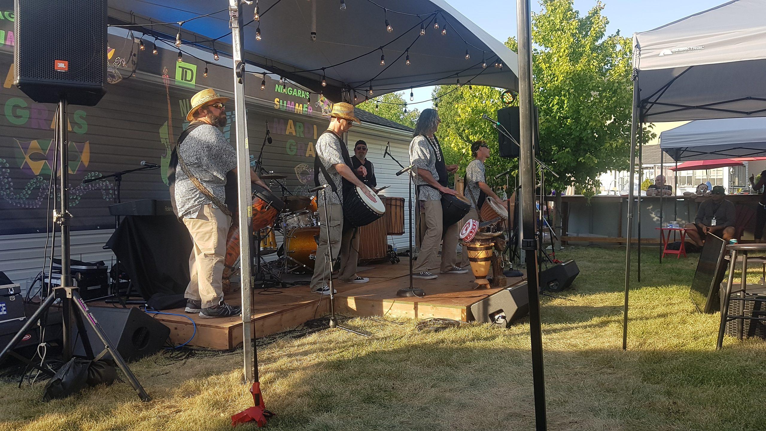 Dragon Ritual Drummers - Niagara's ONLINE Summer Mardi Gras - Saturday, July 18, 2020. Photo: Nicholas Paolone