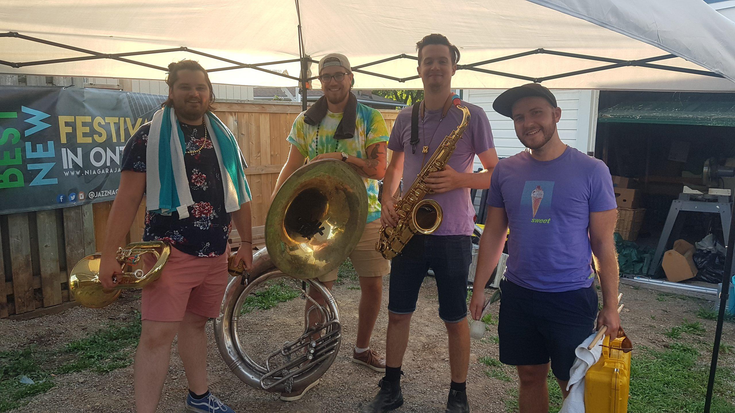 Big Smoke Brass - Niagara's ONLINE Summer Mardi Gras - Saturday, July 18, 2020. Photo: Nicholas Paolone