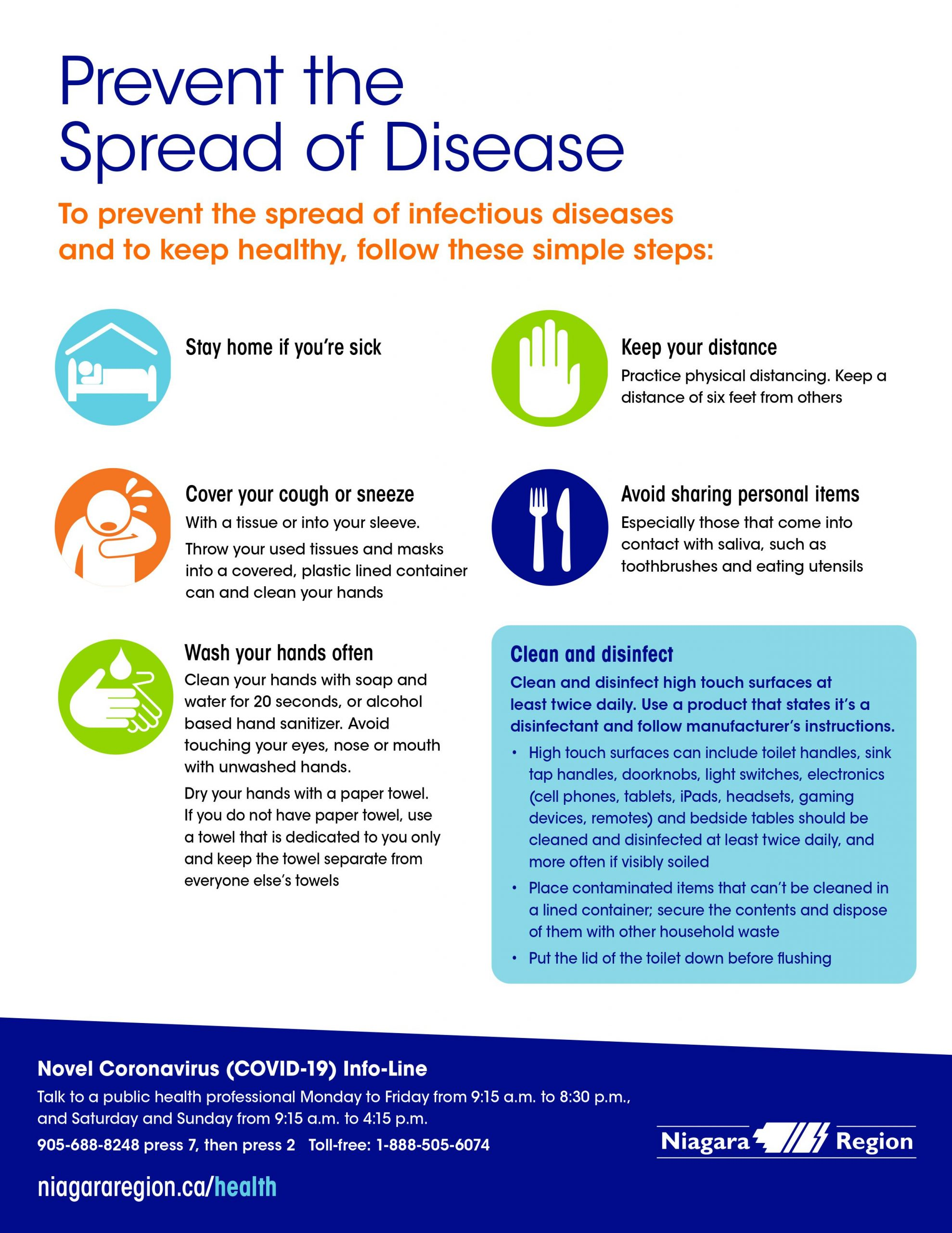 Prevent the Spread of Disease infographic